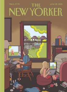 """Chris Ware's """"Playdate"""" cover of the June 22, 2015, NEW YORKER."""
